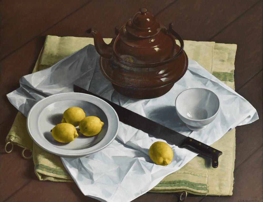 Stilleven met citroenen