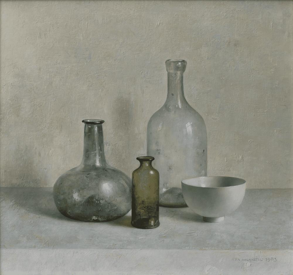 Stilleven met Romeins glas