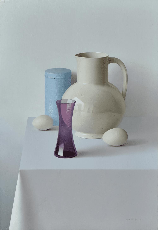Kan met paars glas