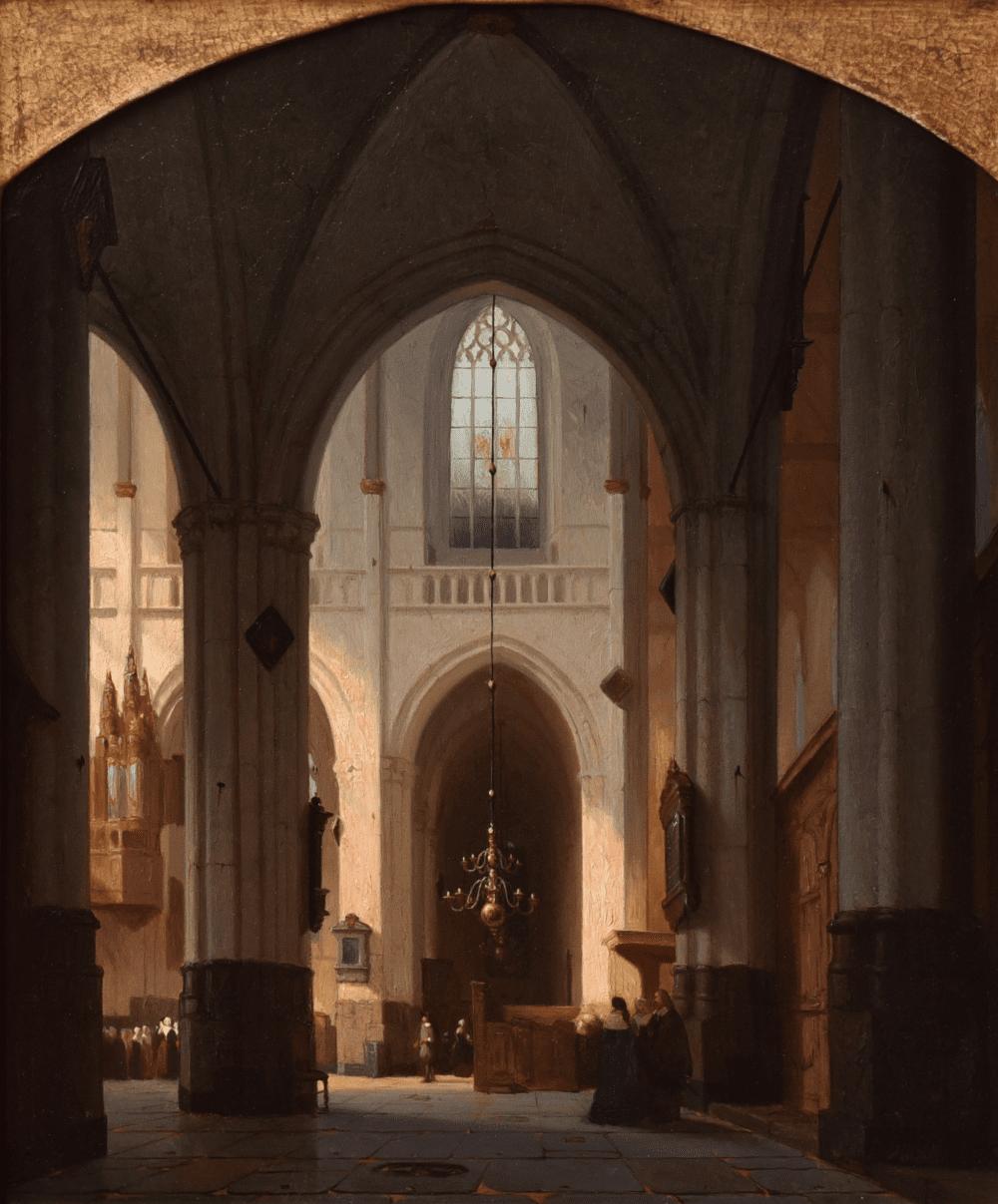 Interieur Nieuwe Kerk te Amsterdam