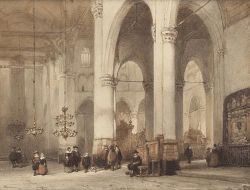 Kerkinterieur St. Laurenskerk