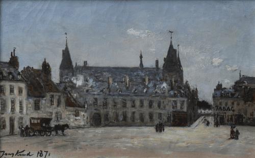 Stadsgezicht met paleis, Nevers
