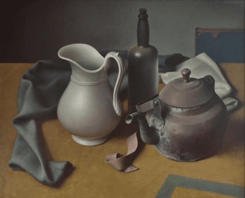 Stilleven met witte vaas